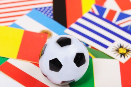 national soccer flags  photo