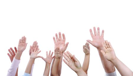 Many hands isolated  Stock Photo - 6250924