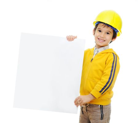 Kid with banner photo