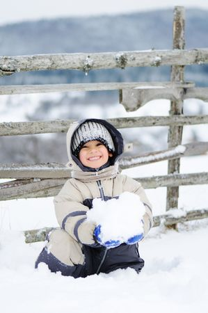 Winter scene, natural beauty photo
