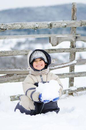 fun colors: Winter scene, natural beauty Stock Photo
