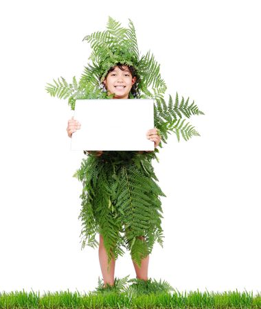 Plant girl on grass isolated Stock Photo - 6325801