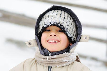 Childhood on snow photo
