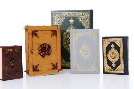 kur'an: Many books of Koran Stock Photo