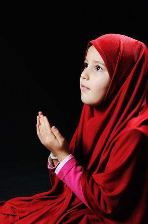 petite fille musulmane: peu musulman Banque d'images