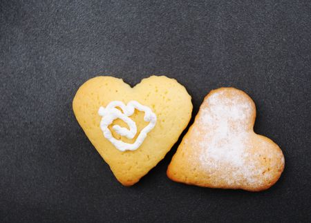 Two heart cakes photo