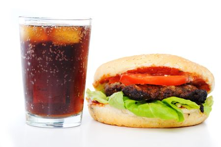 Fast food, burger and coke Stock Photo - 6526348