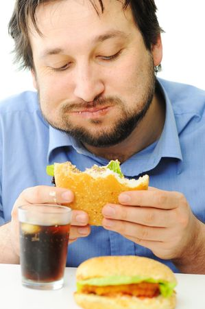 Fast food, burger and coke photo