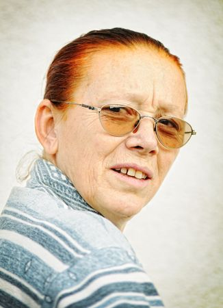 decrepitude:  portrait of a old woman