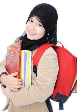 Muslim schoolgirl photo