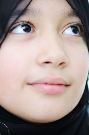 Muslim girl, portrait photo