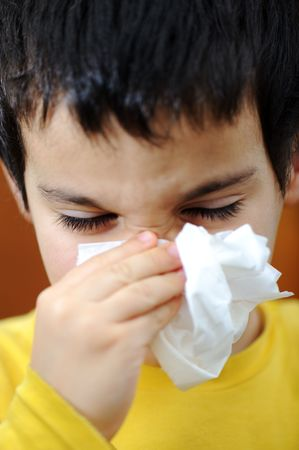 downcast: Sick child Stock Photo