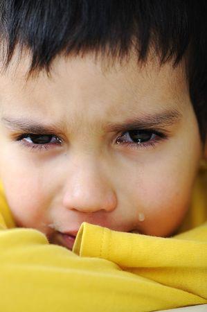 Crying kid, emotional scene Stock Photo - 6626755