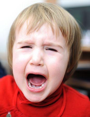 Crying baby, emotional scene Stock Photo - 6627088