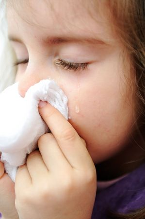 Sick child photo