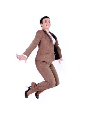 jumping woman Stock Photo - 6626933