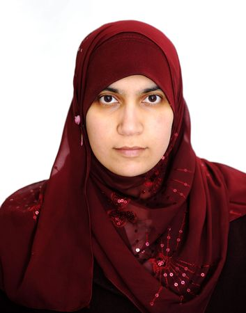 purdah: young muslim Stock Photo