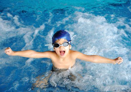 activity holiday: swimming kid