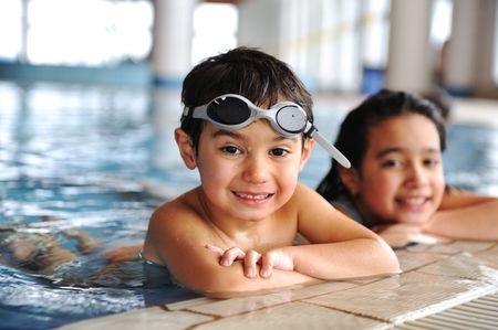 natacion: ni�o de nataci�n Foto de archivo