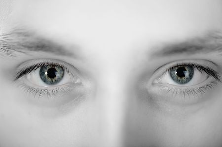 young man eyes  Stock Photo