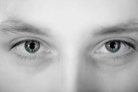 close up eyes: young man eyes  Stock Photo