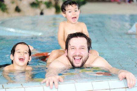swimming family Stock Photo - 6759151