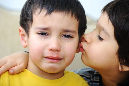 emotional grief: crying kid