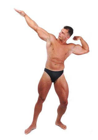 Bodybuilder strong as a rock photo