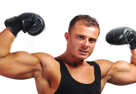 Bodybuilder strong as a rock Stock Photo - 6875702