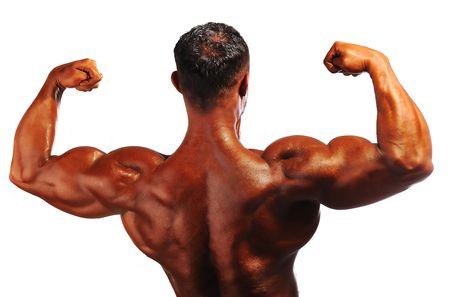 athletic body: Bodybuilder strong as a rock Stock Photo