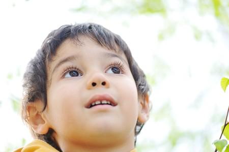 happy children in nature outdoor Stock Photo - 7012043