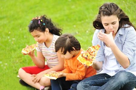 Pizza, family, outdoor photo