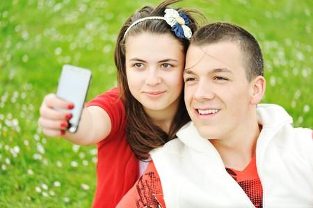 Teenagers outdoor, beautiful scene photo