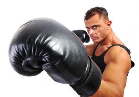 hombre fuerte: Hombre fuerte con un cuerpo de helthy  Foto de archivo
