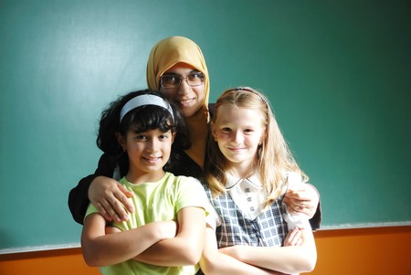 femme musulmane: Une femme musulmane enseignant