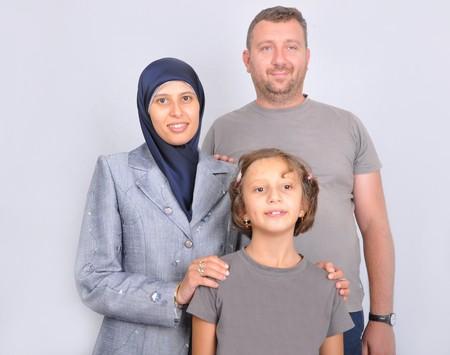 femmes muslim: famille musulman  Banque d'images