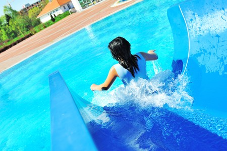 On beautiful pool, summer great time! photo