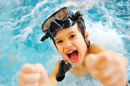 On beautiful pool, summer great time! Stock Photo - 7015446