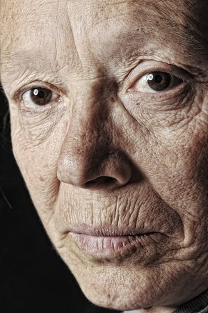 jaded: old woman Stock Photo