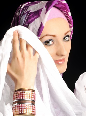 Beautiful Muslim fashion girl Stock Photo - 7015435
