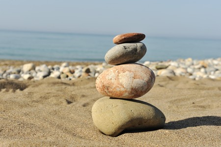 inner peace: Balance in nature Stock Photo