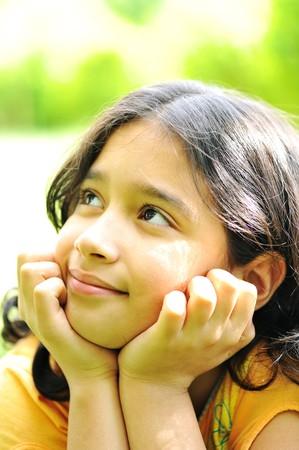 Beautiful girl outdoor photo