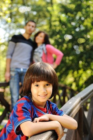 beautiful kid boy with his family  Stock Photo - 8084457