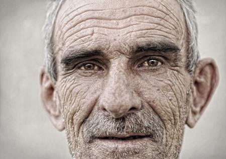 Elderly, old, mature man close up  portrait photo