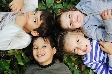 kids in circle  photo