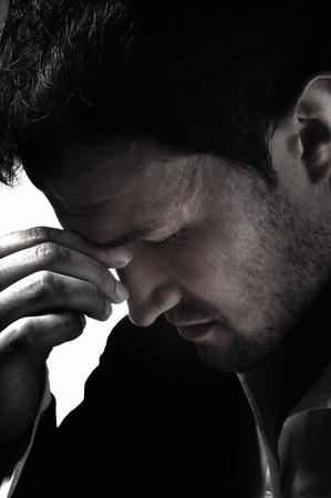 throbbing: A young man that has an intense headache.