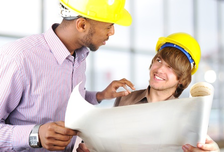 young engineers, black and white Stock Photo - 8642976