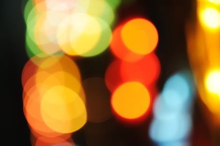 Abstract colorful beautiful lights in the night Stock Photo - 8799120