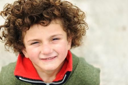 Fine art portrait of cute kid  photo