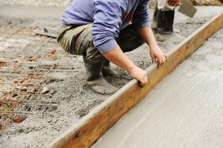 cement: Working with stucco and cement outdoor
